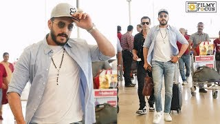Akhil Akkineni Stylish andamp; Cool Look Spotted at HYD airport | Telugu Airport Videos