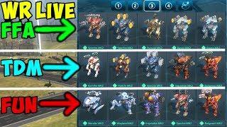 War Robots 3 Different Maxed Hangar Decks over 3 Hours Gameplay WR