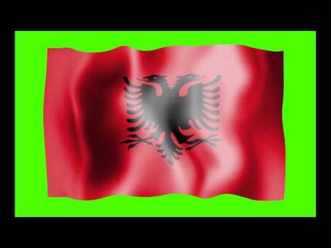 Albania Flag Green Screen - Free Royalty Footage