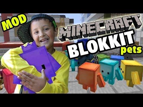 Minecraft: Blokkit Pets Mod  Mike & Dad Adventure case Fun!