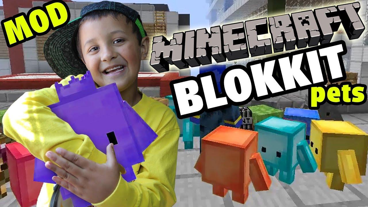 Minecraft: Blokkit Pets Mod - Mike & Dad Adventure (Showcase Fun!)