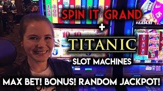 Titanic Slot Machine! Maxi Jackpot and BONUS WIN!
