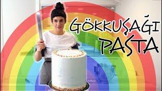 GÖKKUŞAĞI PASTA / RAINBOW CAKE - pastacılık yaz okulu Video