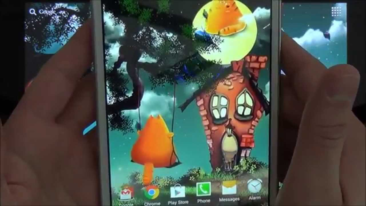 Cute Halloween Live Wallpaper For Android Phones And Tablets Youtube