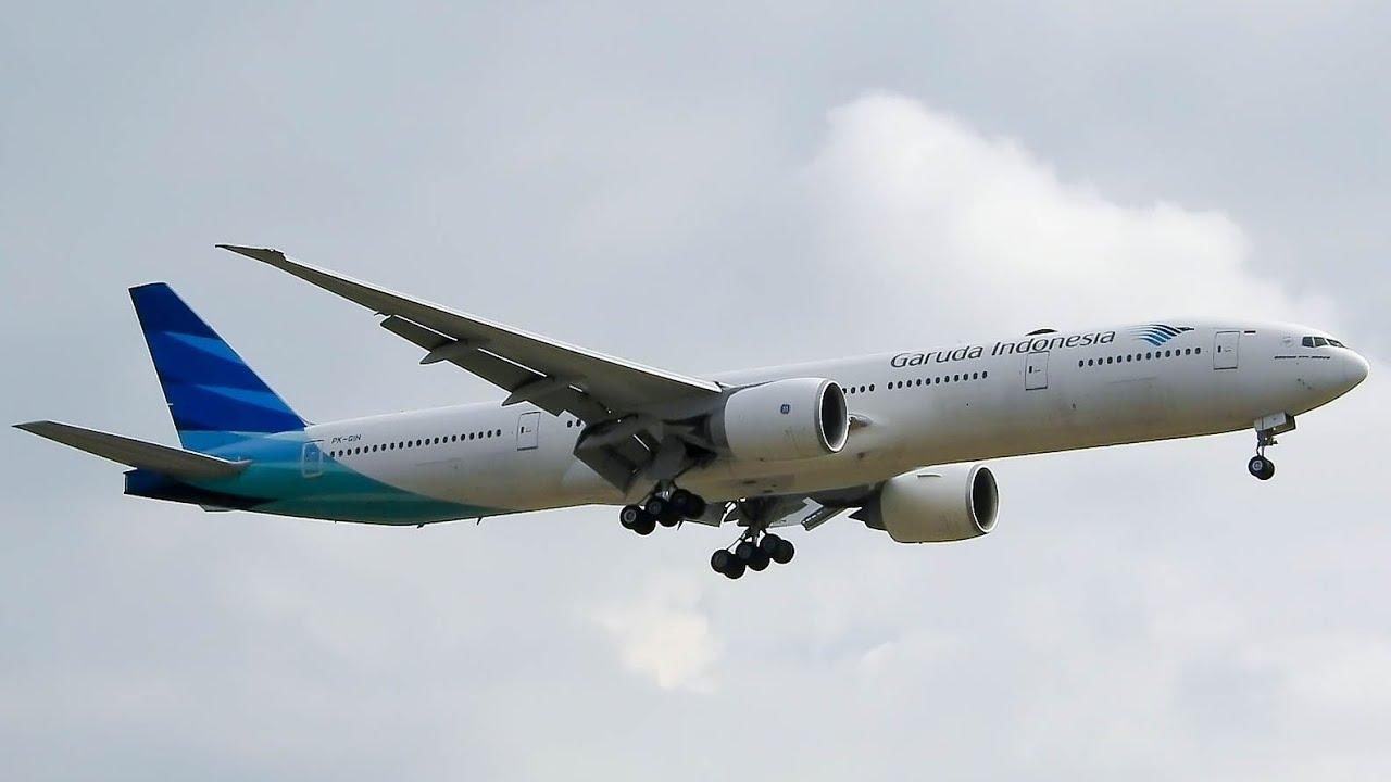 Garuda Indonesia Boeing 777-3U3(ER) Landing At Belgrade Airport