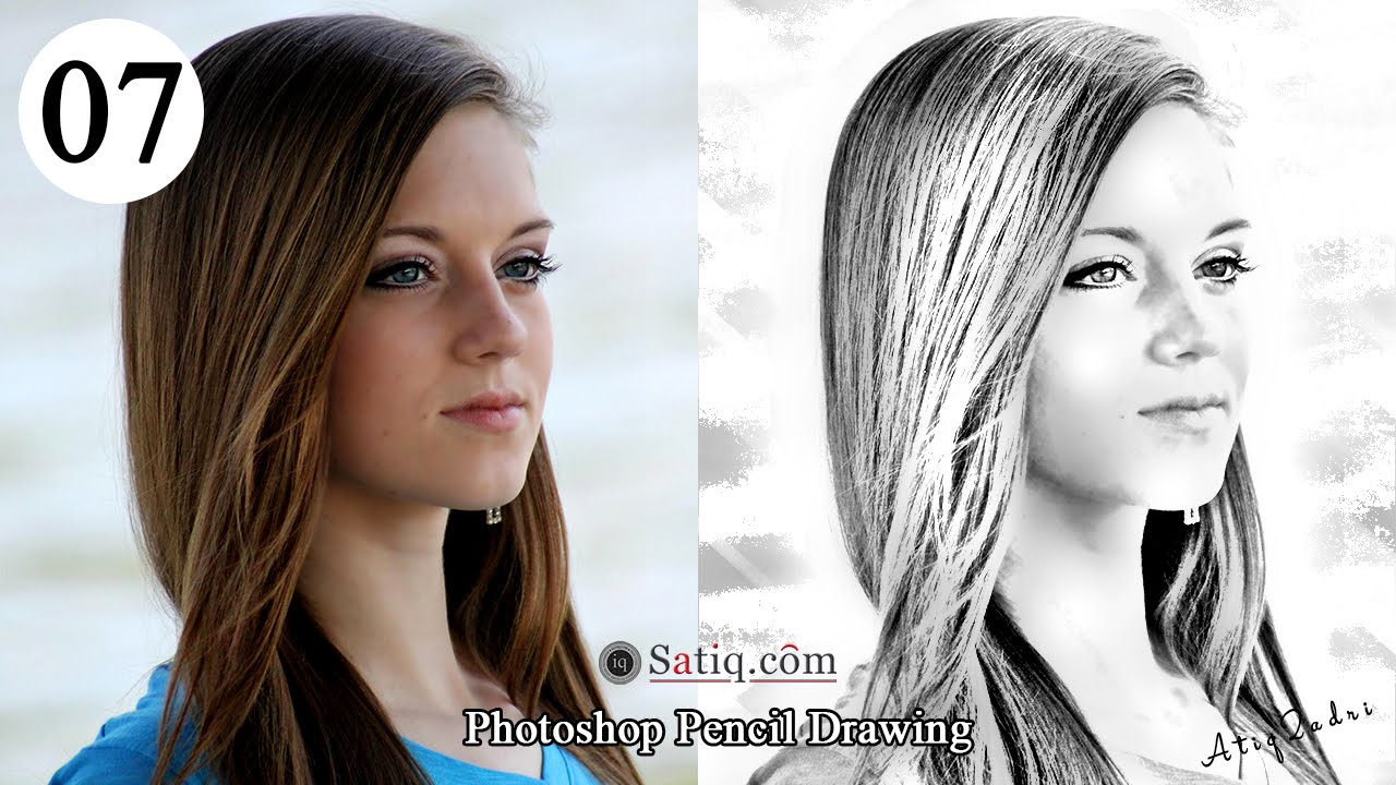 Photo effect 07 photoshop pencil drawing sketch effect youtube