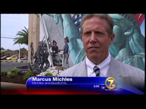 WJHG-TV:  Mural Dedication by Michles & Booth in Fort Walton Beach