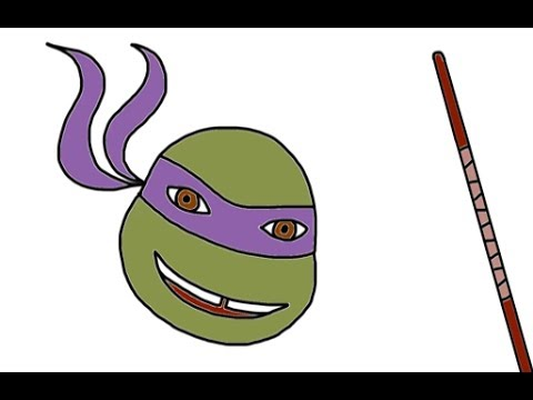 How To Draw Donatello And Najinata From Teenage Mutant Ninja Turtles TMNT Episodes - Itsy Artist
