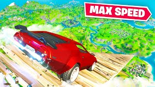 Reaching MAX SPEED In Cars (Fortnite)
