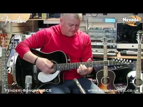 Fender Sonoran SCE Electro Acoustic Guitar Demo - Richie Stopforth @ PMT
