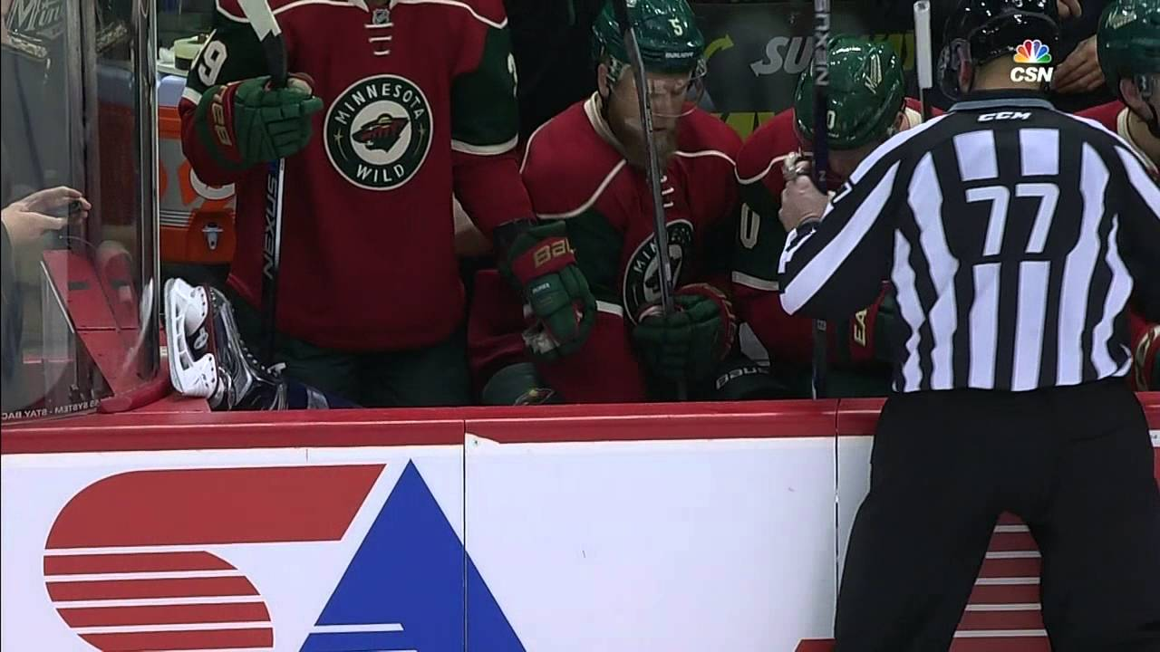 Tom Wilson Falls Into Minnesota Wild Bench After Failed Bodycheck (video)