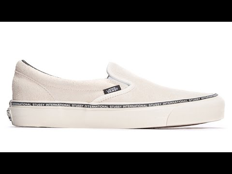 f97b299bbe5 Shoe Review  Vans Vault Originals x Stussy OG Classic Slip-On LX  (Washed Birch)