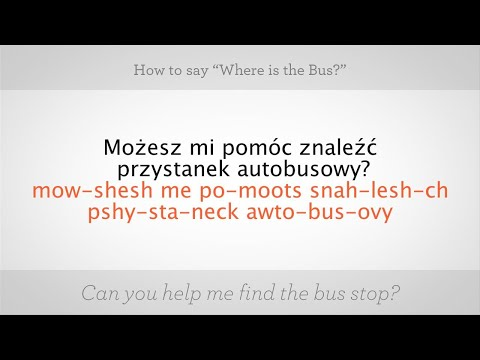 """How to Say """"Where Is the Bus"""" in Polish 