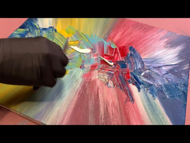 Acrylic Abstract Painting Insanity Easy Technique For Beginners Wigglz Art Knife Art