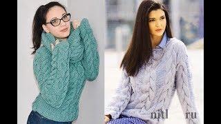 Вязать Джемпер Спицами - фото модели 2019/ Knit Cardigan With Spokes Photo/ Strickjacke Mit Speichen
