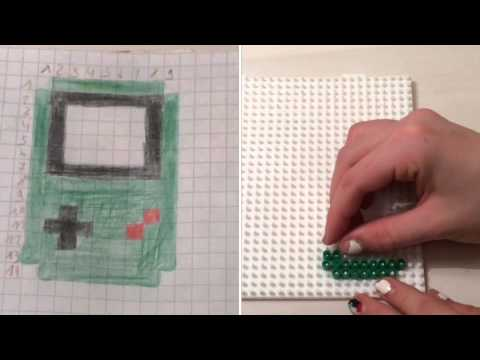 comment faire une game boy en perles repasser tuto youtube. Black Bedroom Furniture Sets. Home Design Ideas