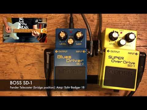 Boss BD-2 Vs Boss SD-1 (Fender Telecaster On Suhr Badger 18) Blues Driver Vs Super Overdrive