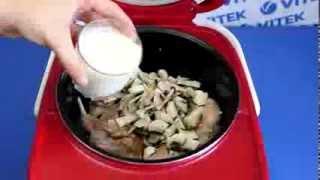 Рецепт приготовления кролика тушеного в сливках с грибами в мультиварке VITEK VT-4214 R