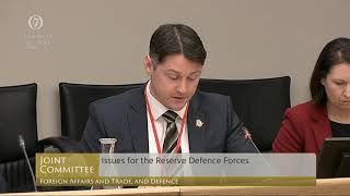RDFRA presenting to the Oireachtas Committee for Foreign Affairs and Trade, and Defence