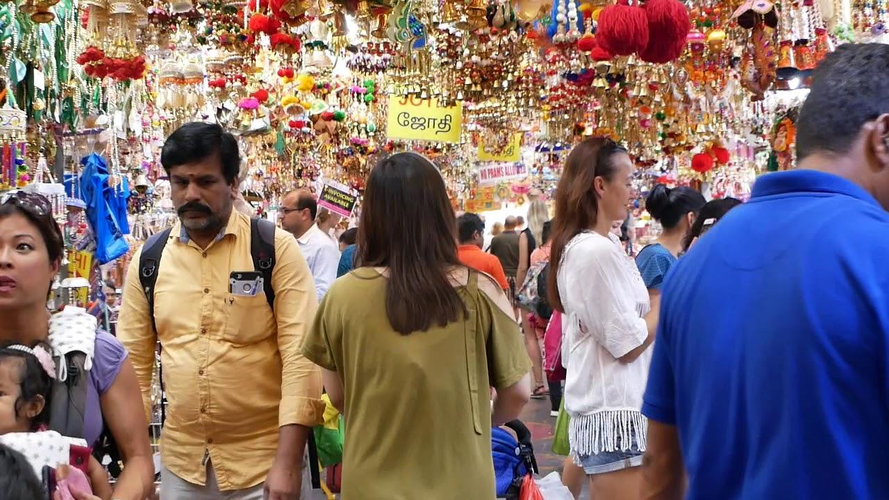 新加坡 小印度 市場 金光閃閃! - YouTube