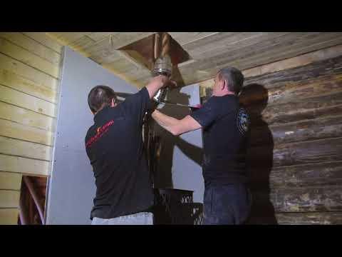 Как установить печь для бани Торнадо
