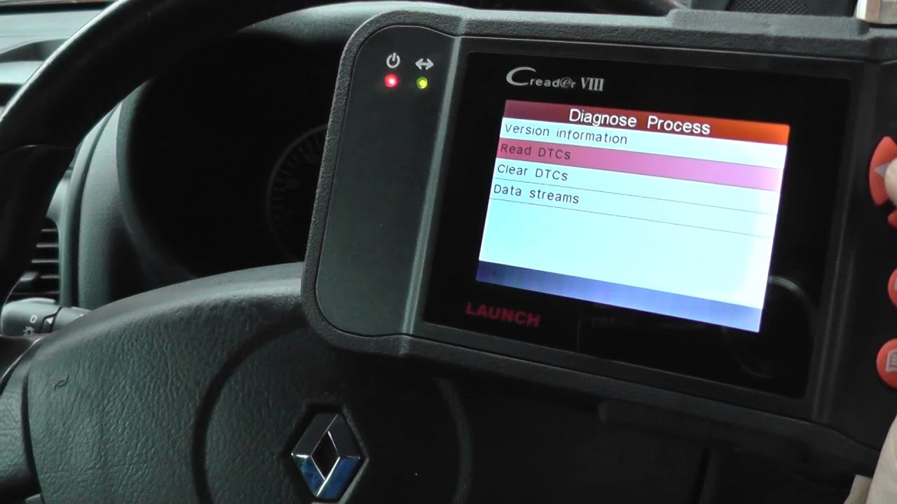 Renault Clio ABS Warning light Sensor Fault Diagnose Launch VIII DF007 5030  CR PLUS