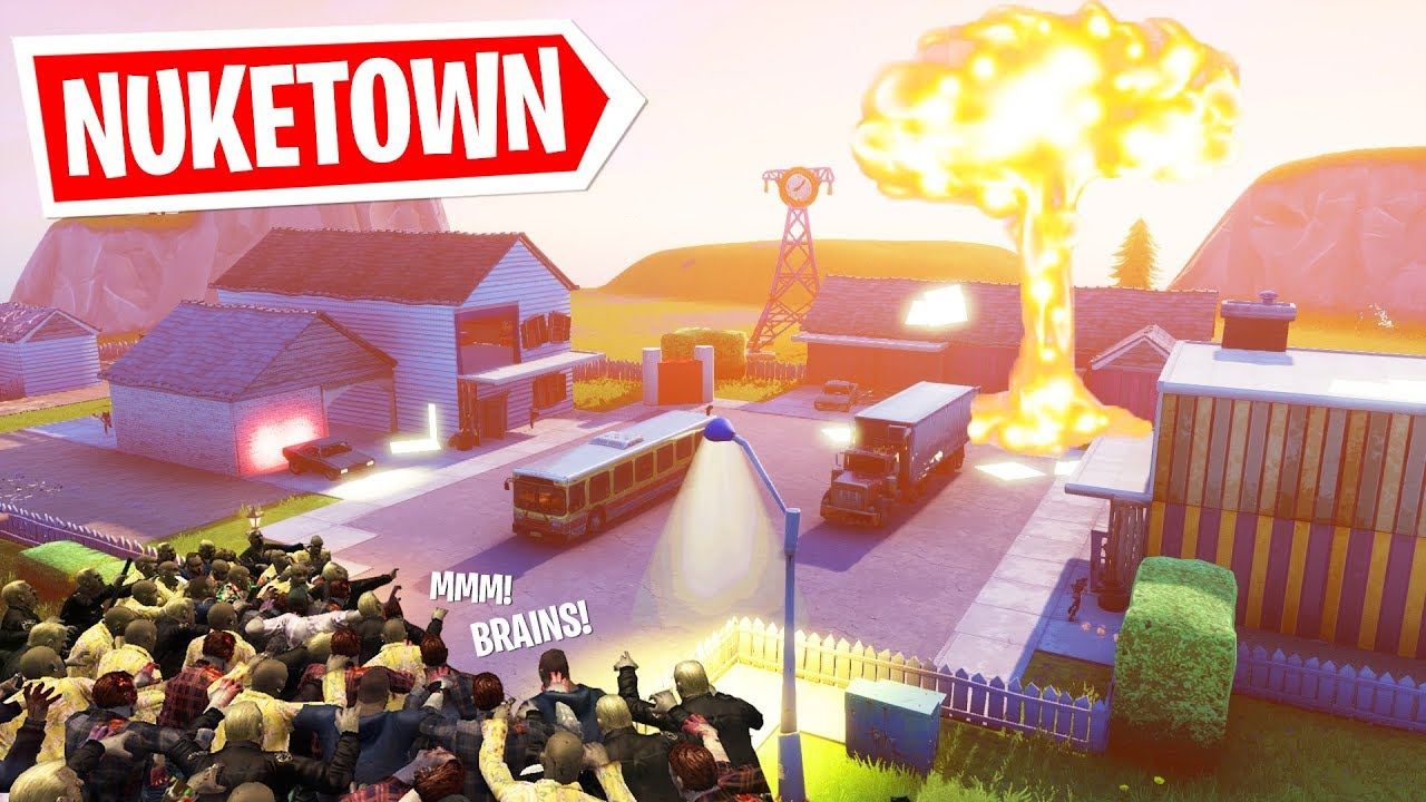 Playing Nuketown Zombies In Fortnite Creative Mode