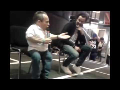 Warwick Davis And Daniel Mays at Leicester's National Space Center on  25th June 2017