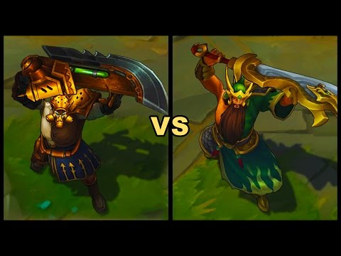 Chemtech Tryndamere vs Warring Kingdoms Tryndamere Skins Comparison (League  of Legends)