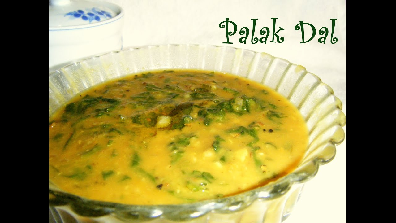 Palak keerai kootu or palak dal recipe in tamil - YouTube