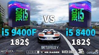 i5 9400F vs i5 8400 Test in 8 Games