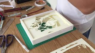 How to made paper cut light box!