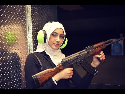 She picked up an AK-47 and FIRED...