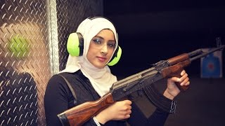 Hijabi Girl with an AK-47