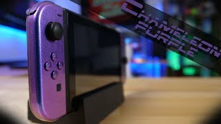 $42 DIY Chameleon Purple Nintendo Switch! | Installation Guide & Review |