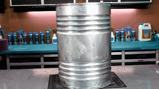 Barbacoa Chulengo con materiales reciclados traidos de la chatarrería