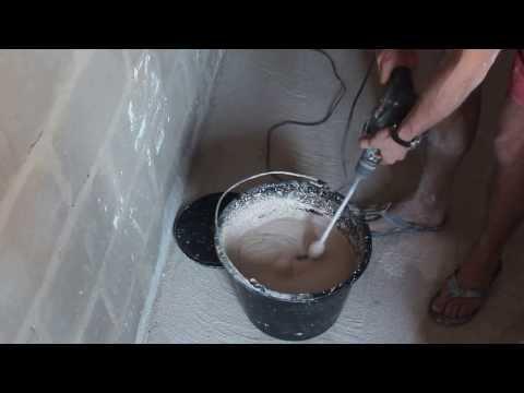 Приготовление штукатурного раствора