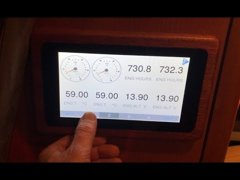 Web gauges of Yacht Devices NMEA 2000 Wi-Fi Gateway