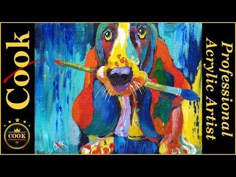 Pat the Painting Dog  Acrylic Painting Tutorial for Beginner and Advanced Artists with Ginger Cook