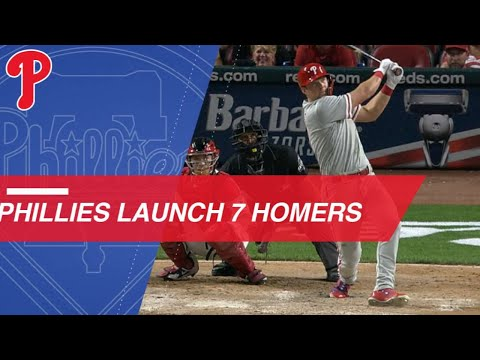Phillies hit club record 7 Home Runs