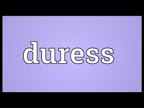 Duress Meaning