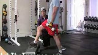 Elevated Stationary Lunges split squat legs butt exercises