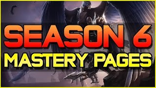 ✔ Pre-Season / S6 Mastery Guide - Basic Mastery Pages for EVERY Champion | League of Legends