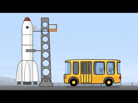 Çizgi film - Büyük yapılar - Roket - Türkçe