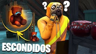 ESCONDIDOS NO FORTNITE! 🐻 * Prop-Hunt *