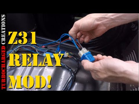 z31 fuel pump relay mod d i y youtube rh youtube com 12 Volt Relay Wiring Diagrams 12V Relay Diagram