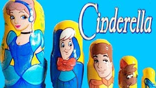 Disney Princess CINDERELLA Stacking Cups Surprise Nesting Dolls Zootopia Frozen Elsa Toys Russian