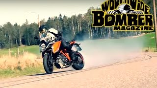 Drifting a KTM 1290 Super Duke GT