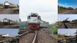 cantiknya kereta api masuk jalur belok