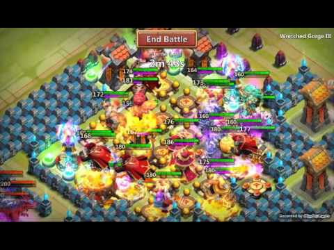 Castle Clash Wretched Gorge 3  Insane Team Hbm OMG !!! And Reward!!!